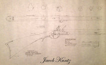 Kuntz rifle flintlock plan blueprint
