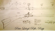 small lehigh rifle blueprint plan flintlock