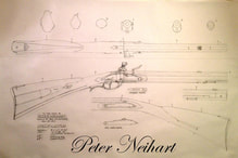 Peter Neihart Flintlock, Blueprint, Plan