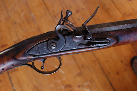 York flintlock rifle lock